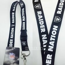 Oakland Raiders Nation Clip On Lanyard Key chain Official Licensed
