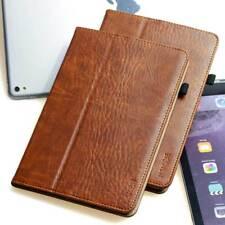 Premium Leder Schutzhülle für Apple iPad Air 2 Tablet Tasche Cover Case braun