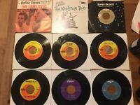 """60's Folk 45rpm Lot: Lettermen & Kingston Trio..""""Greenback Dollar""""..Vinys VG+-NM"""