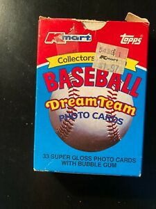 TOPPS 1989 Kmart Baseball Dream Team Photo Cards Collectors Edition 33 Cards