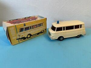 DDR Spielzeug Anker Barkas B1000 Krankenwagen in OVP 1:25
