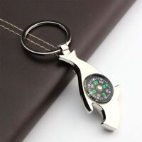 Alloy Kitchen Bar Tool Key Holder Beer Bottle Opener Key Chain With Compass
