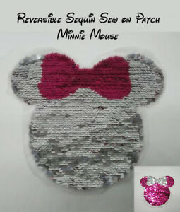 Disney - Minnie Mouse Sew on Sequin Patches -  Fast & Free Post