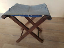 Sgabello pieghevole da pesca in legno massello di epoca ebay