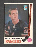 1969-70 ORLAND KURTENBACH #188 EX-MT+ OPC ** NY Rangers NHL Hockey Card