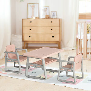 Kid Table and Chairs Set Activity Play Table Writting Desk for Toddlers