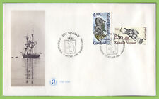 Greenland 1995 Ships Figureheads set on First Day Cover