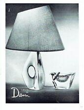 Publicité Advertising 087  1960  cristal de Daum  lampe cendrier