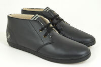 Fred Perry Byron Mid Leather Sneaker, Black, Schwarz, Leder,  Neu
