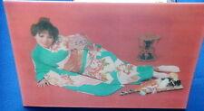 1970 Cartolina tridimensionale 3D DONNA ASIATICA NUDO SEXY n 20