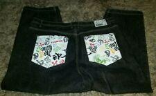 SOUTHPOLE Mens 50 x 32 Hip Hop Jeans ~ Skull & CrossBones Graphic Back Pockets