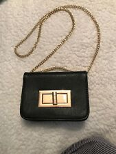 NEW Free People Crossbody Bag Black Gold Embellishment