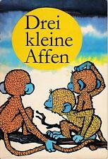 Drei kleine Affen, nach einem japanischen Volksmärchen, Altberliner Verlag 1974