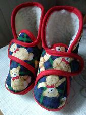 Baby Schuhe Krabbelschuhe warme Hausschuhe ~ Baumwolle ~ Größe: 18 ~ Top Zustand