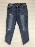 Seven7 Womens Jeans Size 18W Stone Wash High Rise Ankle Skinny Distressed