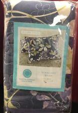 $60 Martha Stewart Wisteria Garden Cotton Quilted Purple Standard Pillow Sham