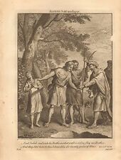 1770  ANTIQUE PRINT -BIBLE- AND JUDAH SAID UNTO HIS BRETHREN
