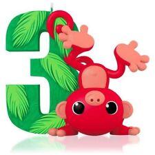 Hallmark 2017 I Am Three Monkey Baby's 3rd Child Christmas Ornament
