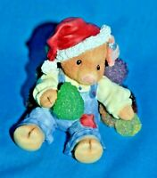 Enesco This Little Piggy Su-eet Christmas Figurine Pig Santa Hat Gumdrops