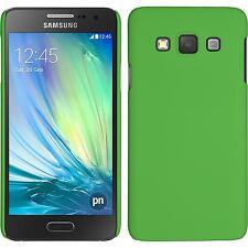 Custodia Rigida Samsung Galaxy A3 (A300) - gommata verde + pellicola protettiva