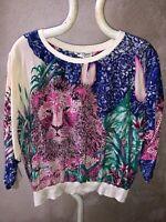 Salvatore Ferragamo Shirt Sweater Silk Animal Savana Vintage Tg L News