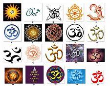 "30 Personalized Return Address labels Buddhist Sign ""OM""   Buy 3 get 1 free"