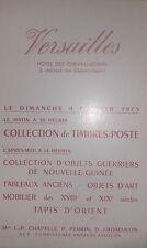 1975 VERSAILLES Catalogue de Vente COLLECTION DE TIMBRES POSTE OBJETS GUERRIERS