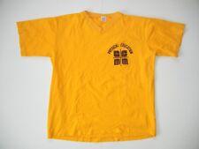 Vtg 60s 70s DON ALLESON Yellow Nylon PE PHYSICAL EDUCATION T-SHIRT School Sz XL