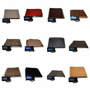1kg VEG TAN LEATHER COWHIDE OFFCUTS  -Selection 12 Colours & Thickness-