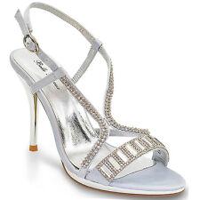 Womens High Heel Platform Diamante Ladies Wedding Prom Shoes Sandals Size 3-8