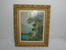 Vintage Framed Dawn Of Day Van Nortwick  Parrish Style Print