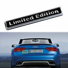 3D Black Alloy Limited Edition Car Trunk Rear Lid Fender Emblem Badge Sticker