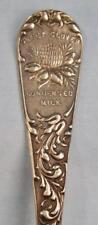Sweet Clover Condensed Milk Vintage Souvenir Ladle Spoon US Silver Company (O)