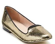 💗 New Leather Gold Fiction Ballet Mimco Flats SANDALS SHOES Wedges 36 Or 5
