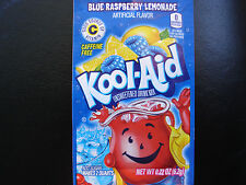 100 BLUE RASPBERRY LEMONADE Kool Aid Drink Mix summer pool party popsicle taste!