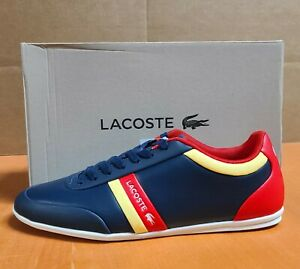LACOSTE Storda 0221 1 Men's Casual Leather Fashion Shoes Sneakers Navy O White
