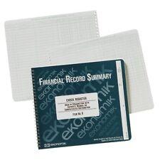 """Ekonomik Wirebound Check Register - 40 Sheet[s] - Wire Bound - 8.75"""" X 10"""" Sheet"""
