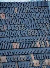 Letterpress Wood Printing Blocks 247pcs 091 Wooden Type Woodtype Alphabet