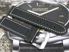 SUPERB HANDMADE LEATHER WATCH STRAP FOR BLANCPAIN FIFTY FATHOMS W/ PINS 23mm