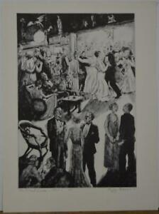 Peggy Bacon The Social Graces 1939 Print Wall Art Antique Reprint 9x13