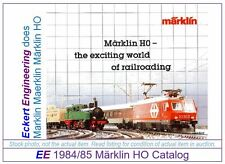 EE 1984/85 D VG Marklin Total Catalog Years 1984 1985 Class Re44 Very Good Cond