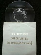 "Pet Shop Boys - Opportunities (Lets Make Lots Of Money) 7"" Pic Sleeve Parlophone"