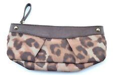 Banana Republic Womens Brown Evening Animal Print Vegan Leather Clutch Bag Purse