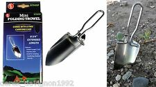 Folding Portable Stainless Steel Hand Shovel Garden Camping Gold panning Trowel