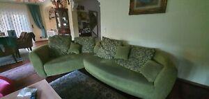 Ecksofa Polstergarnitur Wohnzimmer Couch Sitzecke Garnitur Sofa 2 teilig