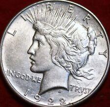UnCirculated 1922  PHILADELPHIA MINT PEACE SILVER DOLLAR, White Brilliance Coin