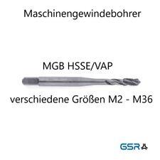 GSR Maschinengewindebohrer RSP35° M2-M36 zur Wahl in HSS/HSSE/HSSE-VAP/HSSE-TIN
