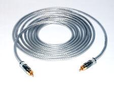 5,00m Mono Subwoofer LFE Kabel DER BASSHAMMER mit Hicon HI-CM07 Cinchsteckern
