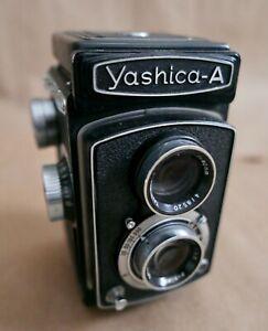 Yashica-A TLR Film Camera, Film Tested, Works Great, Yashimar 80MM f3.5 Lens