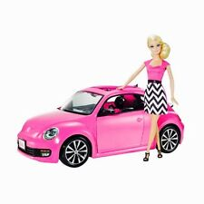 New In Box  Barbie Volkswagen VW PINK Beetle Car and Doll Set